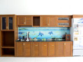 Tủ bếp nhôm Omega Deco đẹp