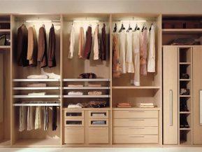Tủ nhôm đựng quần áo giả gỗ