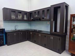 Tủ bếp nhôm Xingfa đẹp