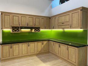 Tủ bếp nhôm vân gỗ sồi cao cấp